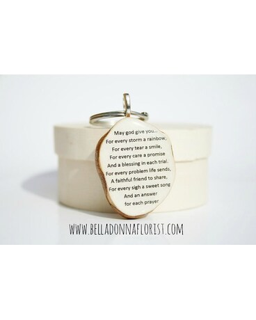 Irish Blessing Wood Keyring